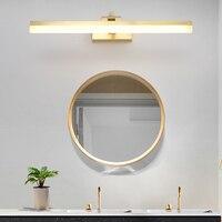 Скандинавское медное зеркало фары для ванной комнаты зеркальные лампы шкафа светодиодная настенная лампа Настенные светильники для ванно