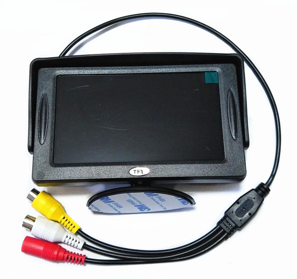 4,3 дюймовый TFT ЖК-цветной экран автомобильный монитор заднего вида парковочная помощь, камера заднего вида опционально