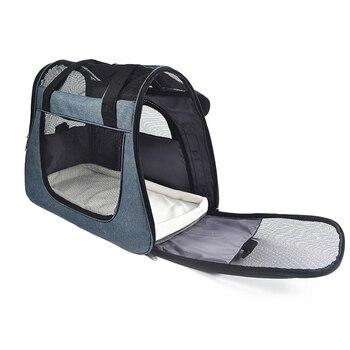 46*23*35cm Pet Carrier Case Travel Tote Shoulder Bag Pet Dog Portable Home Bed Crate Cage Puppy Cat Travel Soft Carrier Case 1