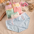 Lace underwear Small broken flower girl underwear Waist bows in ladies underwear briefs