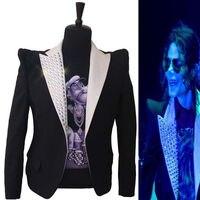 Вечернее платье Классический Англия Стиль MJ Майкл Джексон костюм это куртка неформальный Кристалл Костюм Блейзер для Вентиляторы