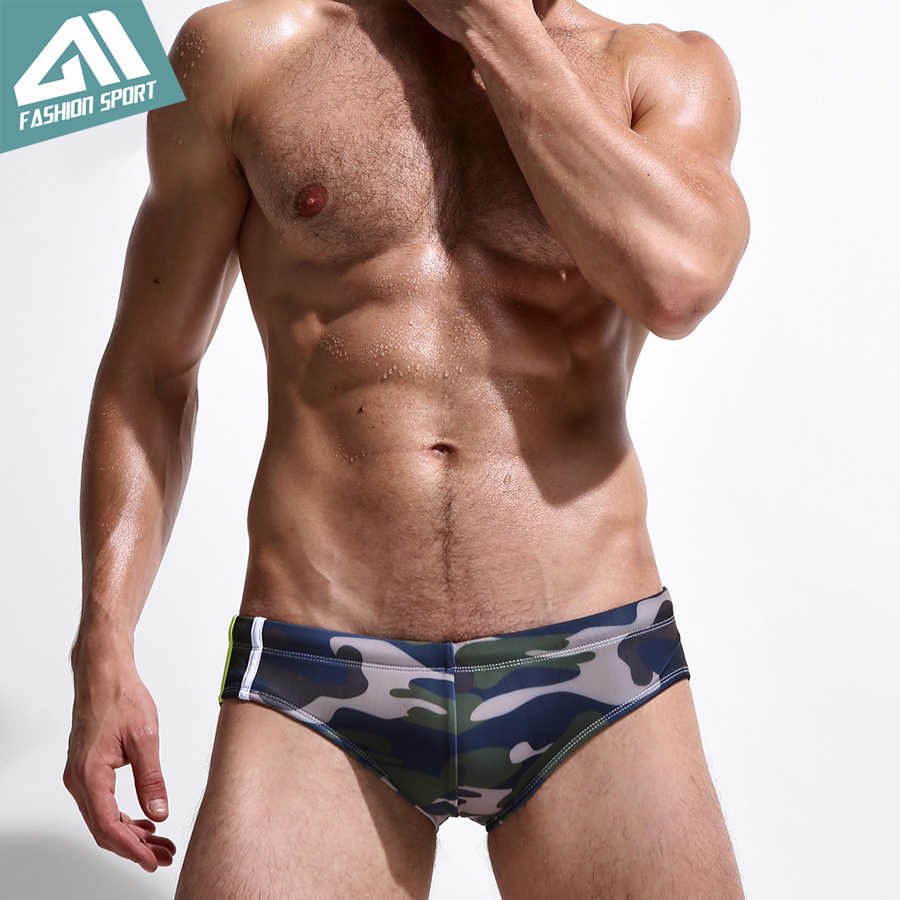 2016 جديد الرجال ملابس الرجال منخفضة الخصر السباحة بحر موجز الرياضي التمويه طباعة الأمواج السباحة موجزات sy04