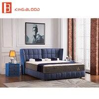 Европейский стиль bedbroom мебель диван кровать дизайн ткань king size рама для кровати королевского размера