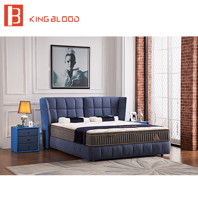 European Style Bedbroom Furniture Divan Bed Design Fabric King Size