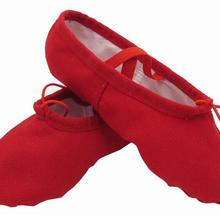 Women Ballet Slippers Red Soft Ballet Pointe Shoes Girls Kids Ballerina  Practice Dance Shoes(China 0daab747ea44