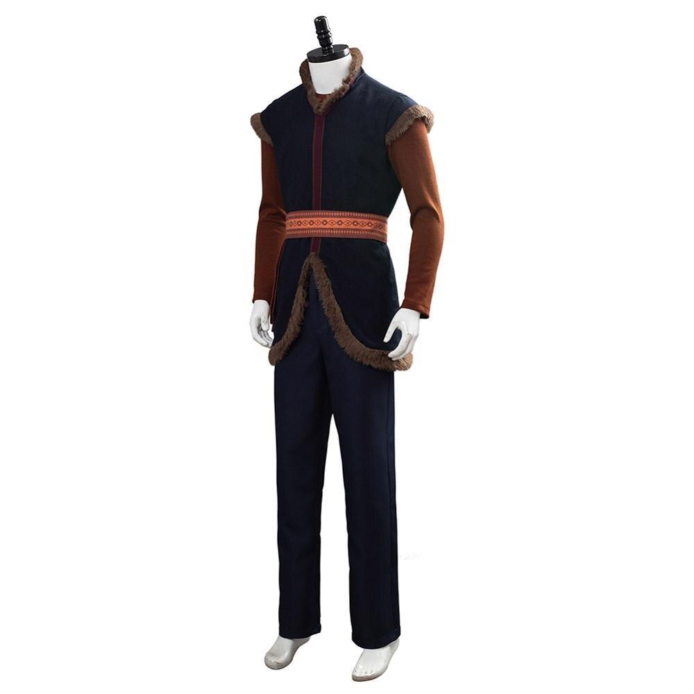 Anime reine des neiges Prince Kristoff Cosplay Costume unisexe adulte chaud Costume pour Halloween carnaval fête - 4