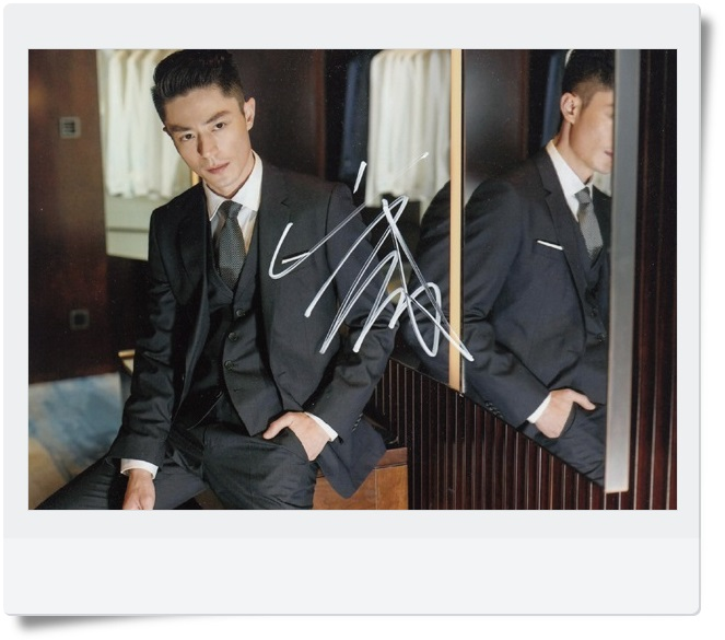 signed Wallace Huo autographed  original photo 7  inches freeshipping 062017