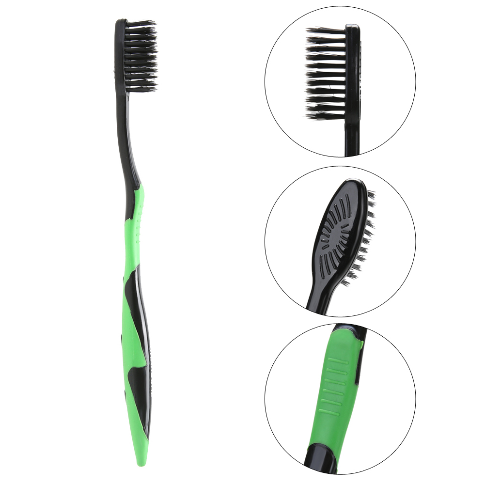 4Pcs/ Set Bamboo Charcoal Toothbrush Oral Dental Care Soft Nano Teeth Brush Set Soft Charcoal Brush Oral Care Toothbrush 1