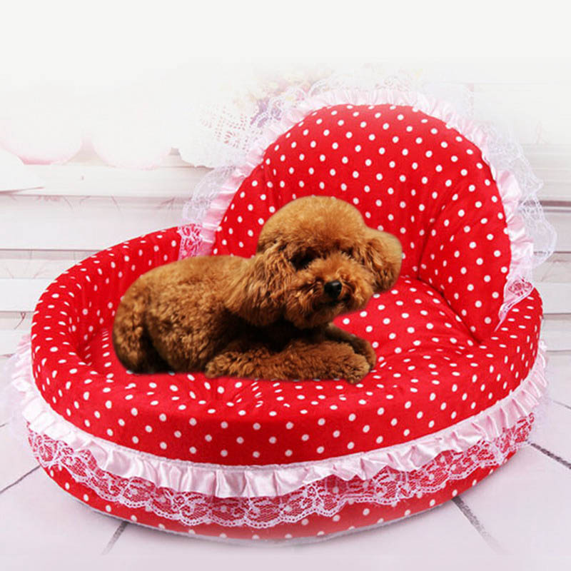 2018 Hot Luxury Lace Princess Dog Beds Lovely Dog Cat Pet Beds Sofa Cushion Comfort Kitt ...