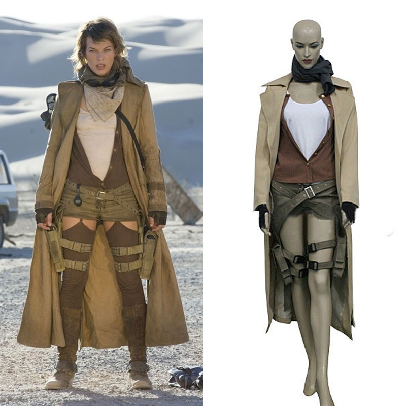 Resident Evil 3 Extinction Alice Cosplay Uniform Suit Full Set Women's Halloween Costumes Custom-made Any Sizes Free SHipping