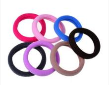 10pcs Korean Version Of Candy Color Seamless Towel Hair Ring Multi-color Hairhand Unisex Accessories Bands For Women