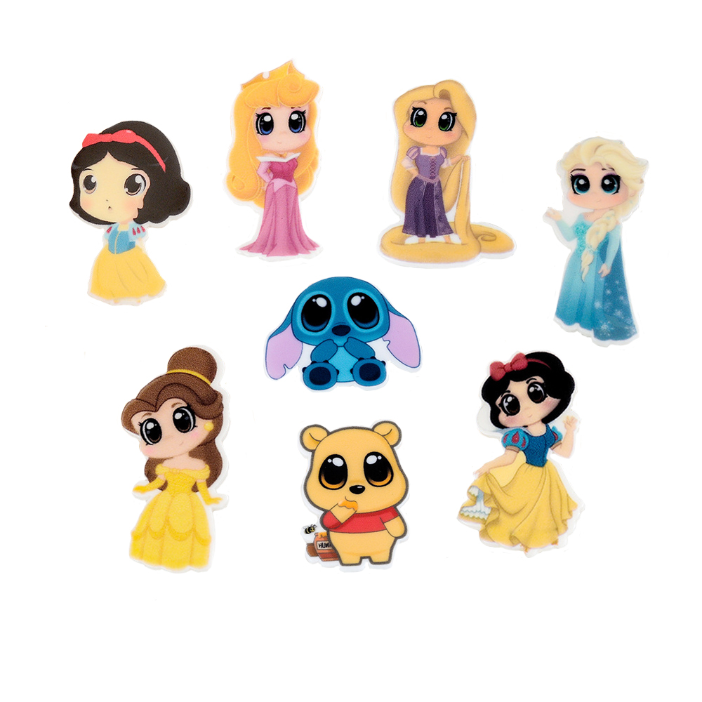 Random Mixed 40Pcs Cartoon Princess Planar Resin My Little Girls Cartoon Cabochons Flatb ...