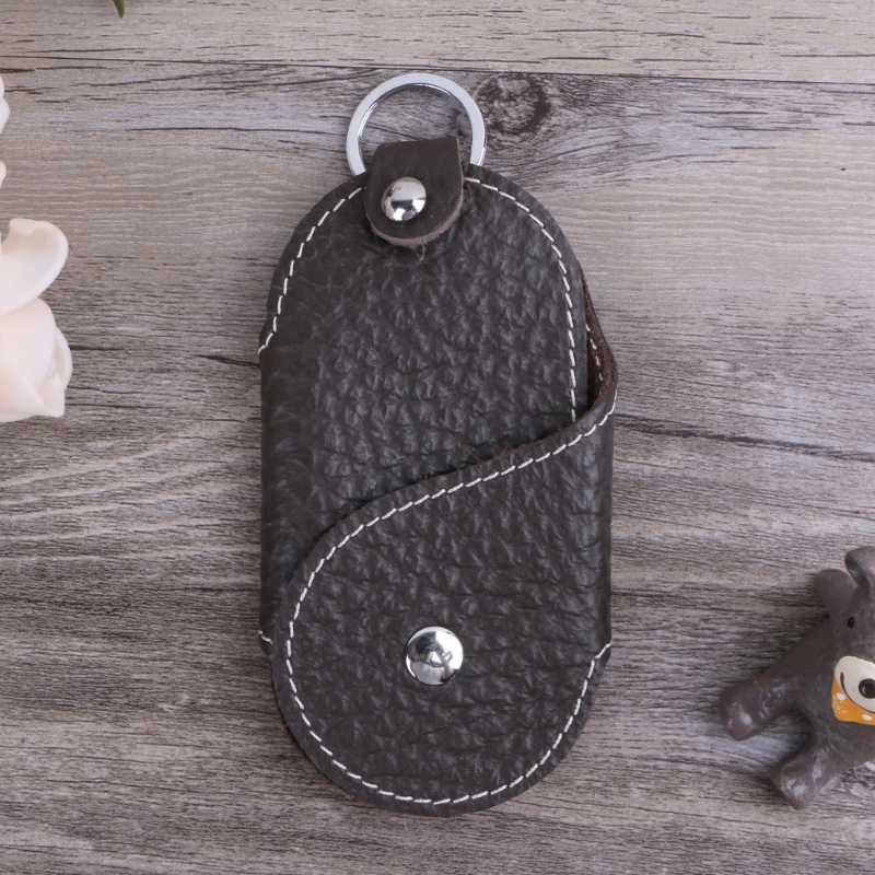 Men Leather Metal Car Keychain Keyring Purse Bag Key Chain Ring Keyfob