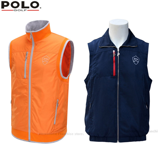 bd6fc50ff POLO Winter Clothes Wear Autumn Warm Vest Thick Velvet Golf Jackets for Men  Outdoor Waistcoat Windbreaker Vest Breathable 2018