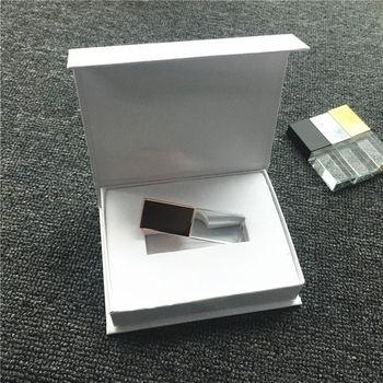 New Custom LOGO Crystal Usb 2.0 Memory Flash Drive with Gift Box 2GB 4GB 8GB 16GB 32GB 64GB (white or black box )
