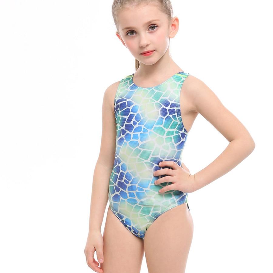 Children Girl Swimsuit Sports Animal Print Swimwear for Girl 3-12 Years Kids One Piece Bathing Suit Summer Nylon Spandex