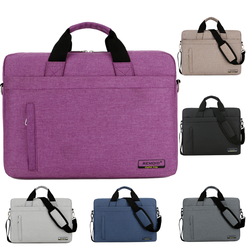 12 13 13.3 14 15 15.6 17 17.3 Inch Waterproof Nylon Laptop Notebook Bag Bags Briefcase Case for Men Women Student Business