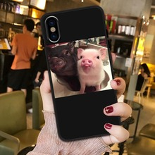 Cute pig American TV Social Media seriously harms your mental health fashion mobile phone case for iPhone 5S SE 6S 7 8 Plus MAX social tv
