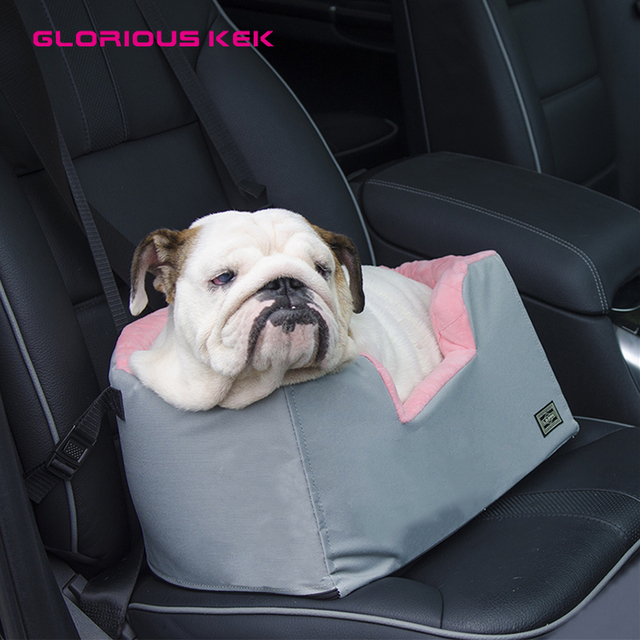GLORIOUS KEK Dog Car Seat Carrier Winter Warm Pet Bucket Booster Indoor Bed