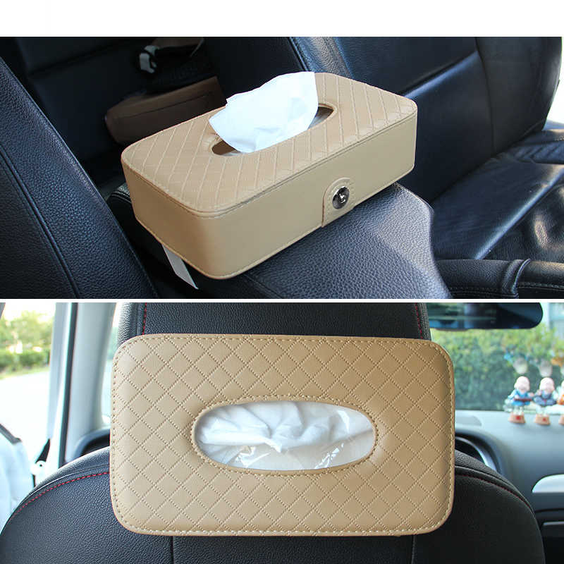 Useful Tissue Box Car Sun Visor Napkin Box Paper Holder Cover Towel S