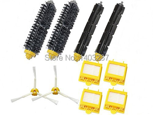2pair Bristle Flexible + Beater Brush+Hepa Filters 3-Armed Side Brush for iRobot Roomba 700 Series 760 770 780 790 Vacuum flexible beater brush bristle brush for irobot roomba 500 600 700 series 550 630 650 660 760 770 780 790 vacuum cleaner parts