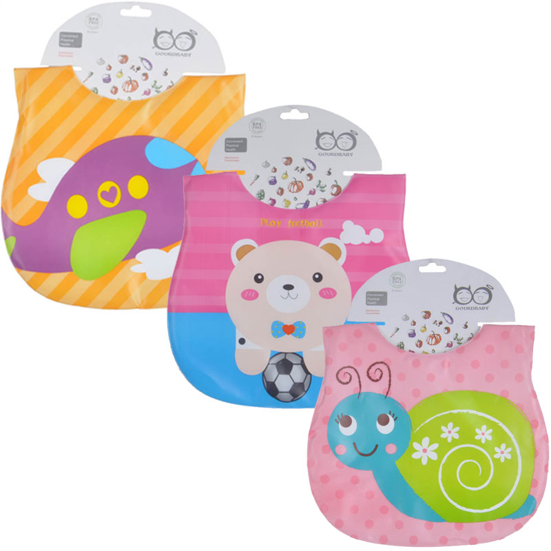 3 Pcs/Lot Baby Bibs Cartoon Child Baberos Cute Waterproof Bib Bandana Soft Infant Feeding Eat Toddler Baby Bibs Apron
