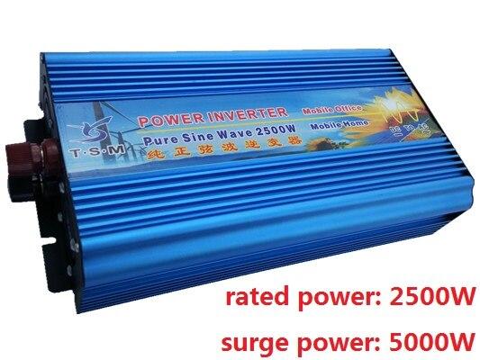 rated power 2500W DC12V to AC220V or DC12V to AC110V Pure Sine Wave Inverter Peak Power 5000W solar inverter digital display