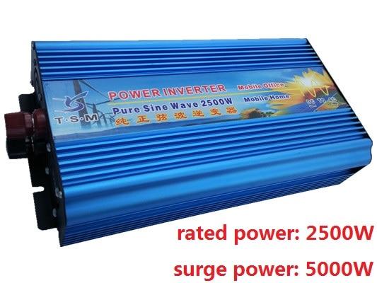 rated power 2500W Inverter DC12V to AC220V or DC12V to AC110V Pure Sine Wave Inverter Peak Power 5000W solar inverter