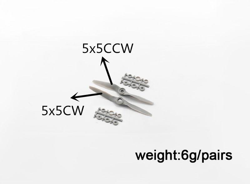 2pcs APC 5*5 Propeller + Reverse Propeller, CW CCW