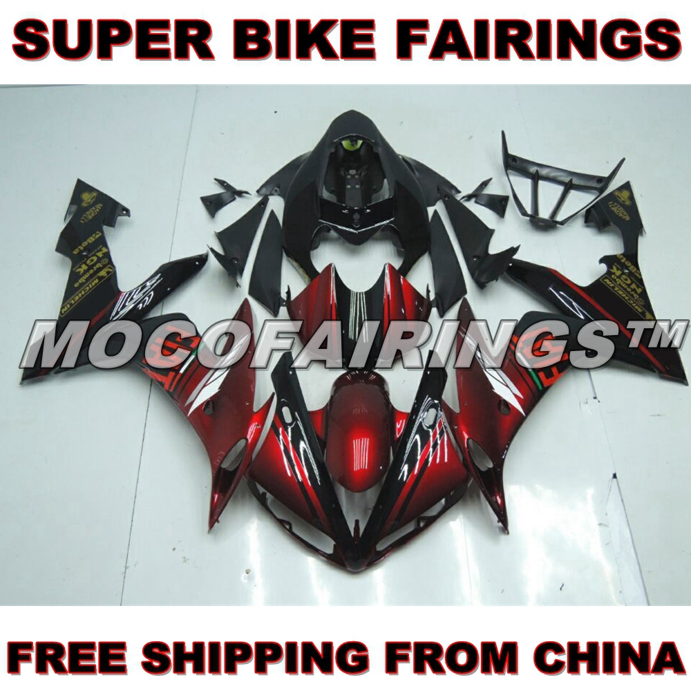 CANDY RED FREE SHIPPING ABS OEM Fitment Fairings Kits Set Cowling For Yamaha YZF R1 YZF-R1 2004 2005 2006 FIAT Full Bike Body dhl free 2014 r2 2015 r1 red multidiag pro with bluetooth vd tcs cdp 21 languages full set 8pcs car cables for cars