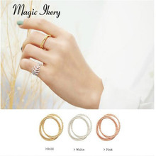 Magic Ikery 2015 Best Popular Wholesales Gold Plated Imported Brand Customized  fashion Multi-storey For Women Rings MKHG1028