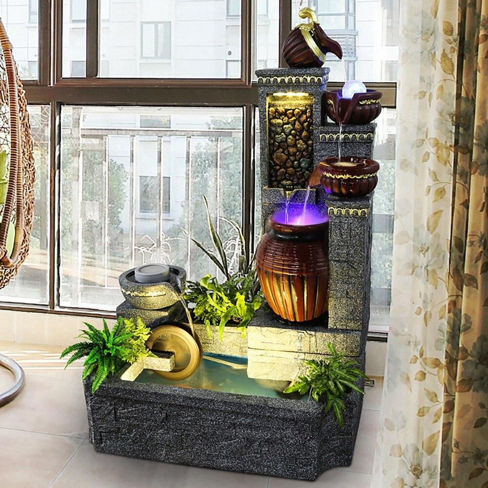 Moderna casa di acqua ufficio ornamenti ruota idraulica artigianato fontane creativo Europeo di Roma di paesaggio della decorazione serbatoio di pesci d'acquario