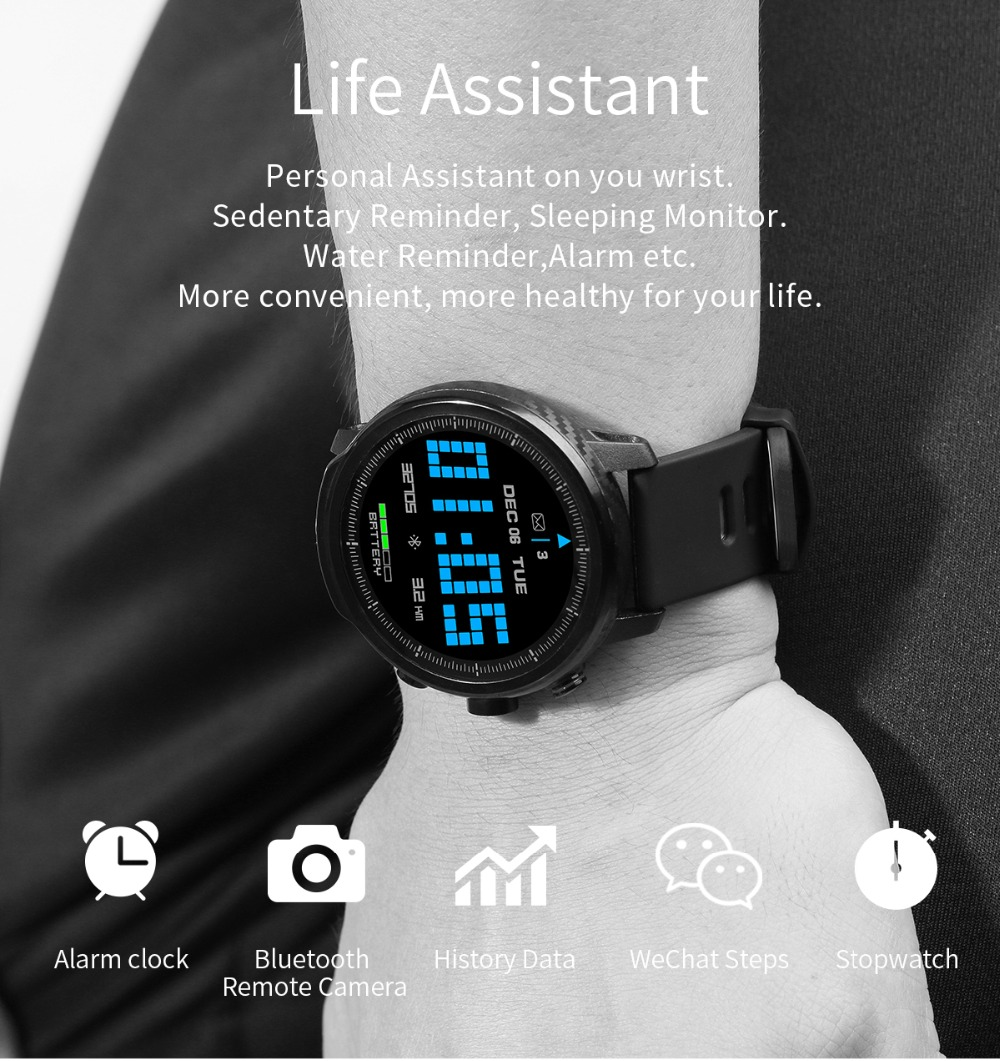 LEMFO L5 IP68 Waterproof Smart Watch For Men With Sports Mode Heart Rate Monitoring And Weather Forecast 15