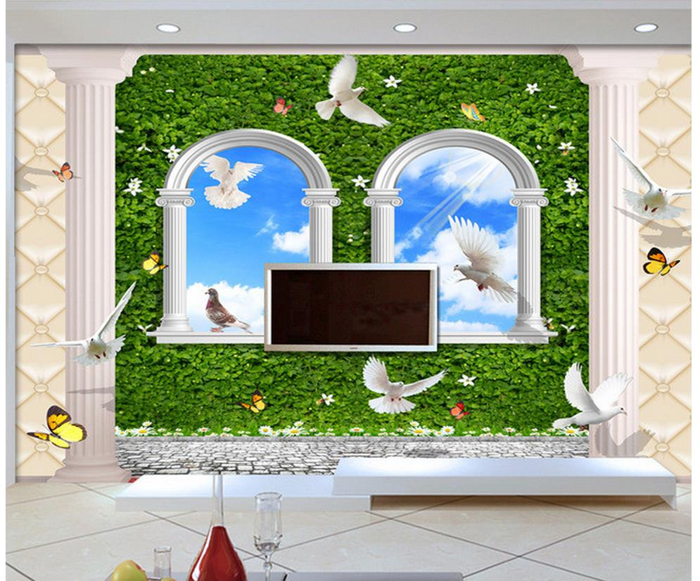 3d wall murals wallpaper photo 3d wallpaper parthenocissus for 3d wallpaper for home wall uk