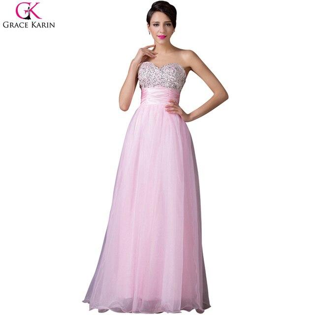 Grace karin sexy vestido de bola vestidos de noche largo azul rosa ...