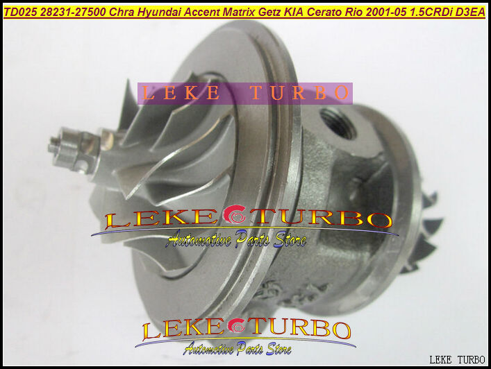 Turbo cartridge Core CHRA TD025M 49173-02612 49173-02622 49173-02623 Turbocharger For Hyundai Accent Getz Matrix D3EA 1.5CRDI 01 turbo cartridge chra core td025 49173 06500 49173 06501 49173 06503 turbocharger for opel astra combo h corsa meriva y17dt 1 7l