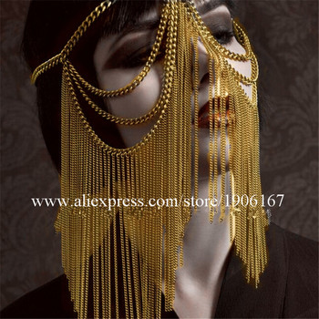Sexy Lady Party Christmas Face Mask Nightclub DJ Masks Party Halloween Christmas Headwear Birthday Gift