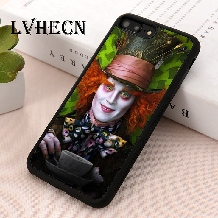 2019 Fashion Lvhecn Tpu Skin Phone Case Cover For Iphone 5 5s Se 6 6s 7 8 Plus X Xr Xs Max Mad Hatter Wonderland Alice Tea Cup Numerous In Variety