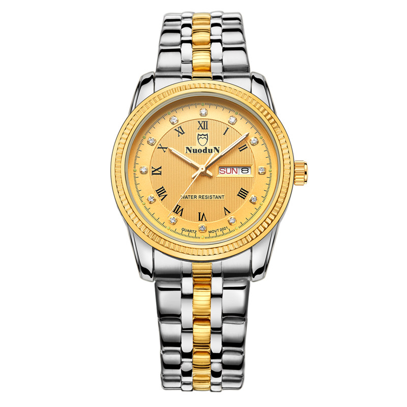 New Quartz Fashion Wristwatch Women 40mm Complete Calendar Auto Date Men Watch Stainless Steel Strap Mens