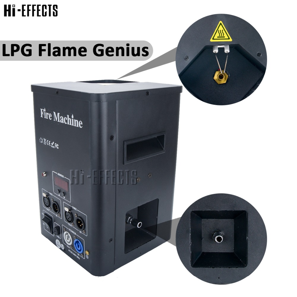 Statge Special Effects Fire Machine Big Flame DMX 512 Lpg Flame Projector One Head Stage Fire Thrower Safety Channel Flame Light