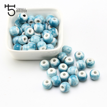 6 8 10mm Chinese Glazed Ceramic Beads for Jewelry Making DIY Bracelet Necklace Materials Beads Wholesale Smooth Round Beads T900 цена
