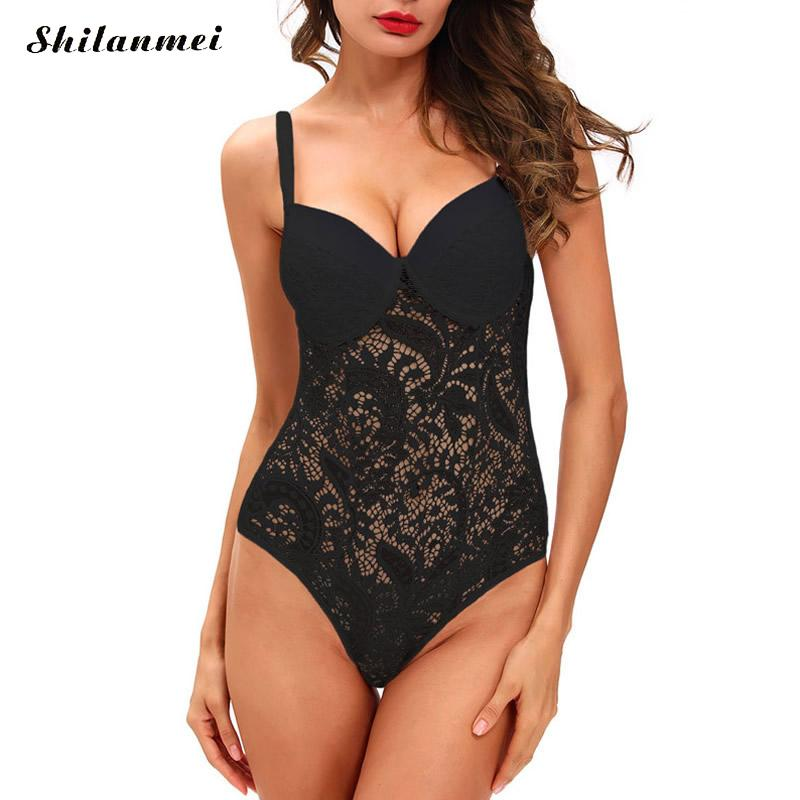 b9fb206e4ed2c Ukraine Sexy white lace bodysuit women push up bra top backless summer  jumpsuit romper v neck hollow out party club bodysuits l-in Bodysuits from  Women's ...