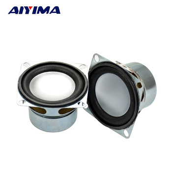 AIYIMA 2Pcs Audio Speakers 2Inch 4 ohm 5W Square Tweeters Speaker 52MM Silver Pot Bottom Outer Bubble Edge Speakers image