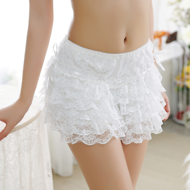 2017 new women safety pant underwear soft cotton plain lace design lingerie high quality comfortable panties hot sale boyshort