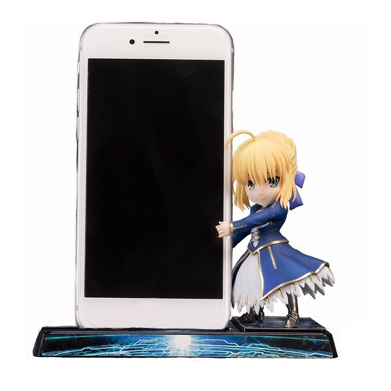 JP Original Smartphone Stand Bishoujo Character Collection Fate Grand Order Saber Lancer Shielder Ruler Cute Pvc Action Figure nitecore tube portable light micro usb rechargeable edc pocket flashlight waterproof mini size light weight 10 colorful key lamp