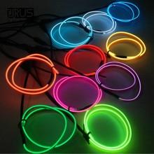 лучшая цена 3 Meters 10 Colors Flexible Neon Light Glow EL Wire Rope tape Cable Strip LED Neon Lights Car Decorative Lamps Strip Ribbon