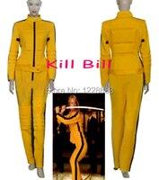 Free Shipping Custom Made Game of Death Bruce Lee Tracksuit Ninja Uniform Cosplay Clothing Costume