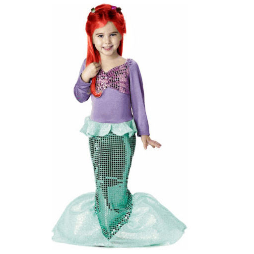 Child Little Mermaid Costume Dress Girl Princess Halloween Costume  sc 1 st  AliExpress.com & Aliexpress.com : Buy Child Little Mermaid Costume Dress Girl ...