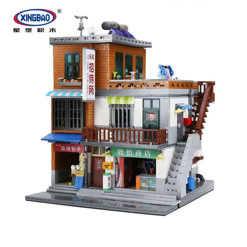 XingBao 01013 Genuine Creative MOC City Series The Urban Village Set Building Blocks Bricks Educational Toys Model Gift 2706 Pcs