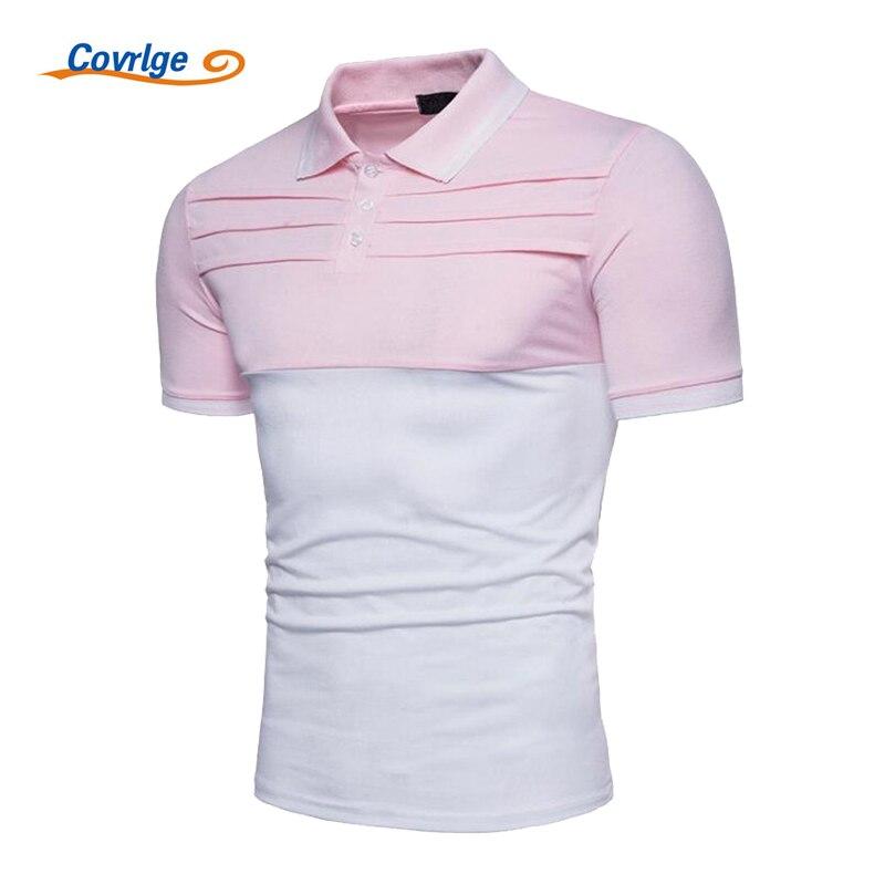 Covrlge Men Polo Shirt 2018 Plus Size Mens Short Sleeve Polos